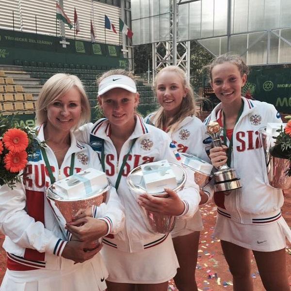 Сборная России выиграла чемпионат мира по теннису до 14 лет