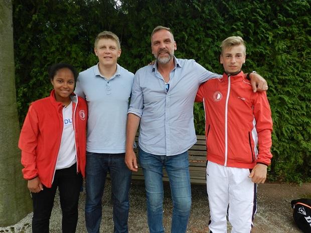 Георг Деге посетил юниорский теннисный турнир